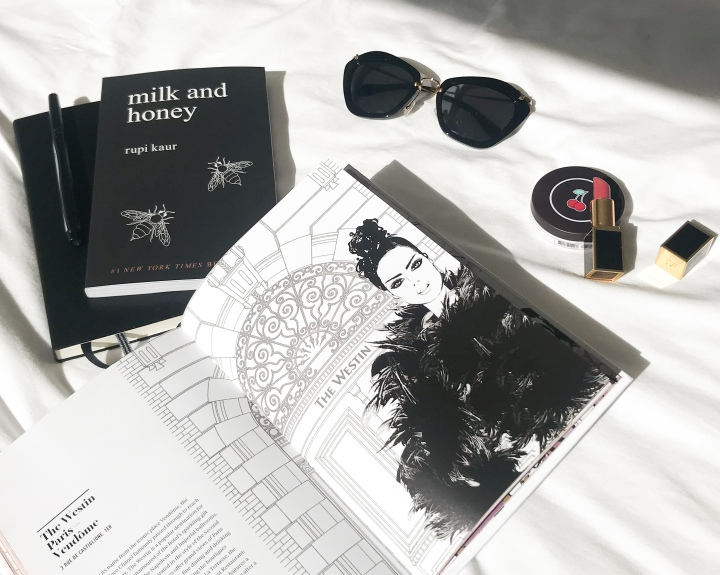 blogger august favourites miu miu sunglasses tom ford lipstick megan hess book frank body cherry bomb lip scrub