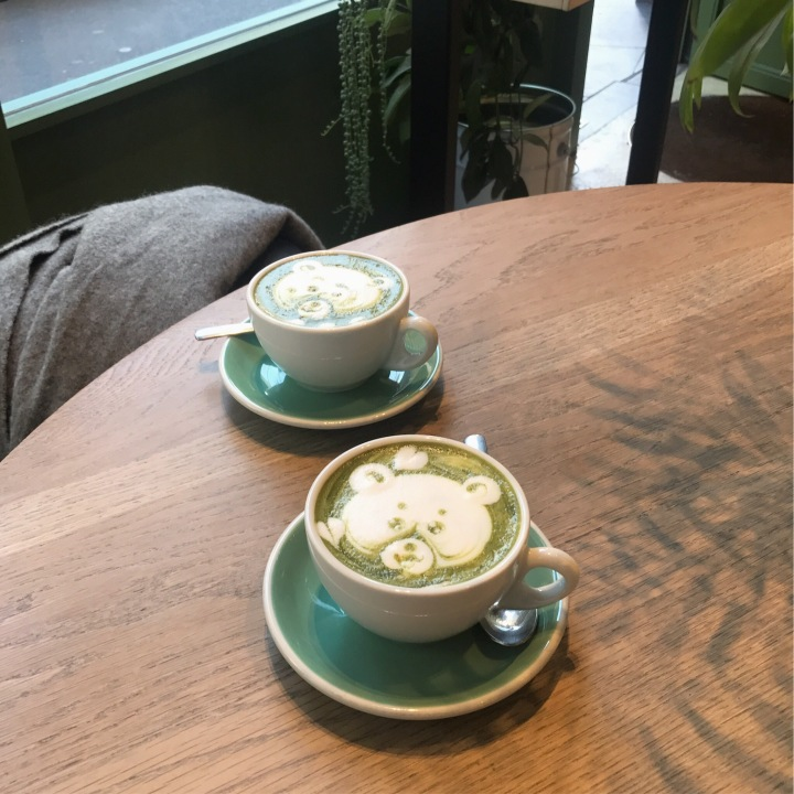 workshop bros matcha latte brunch