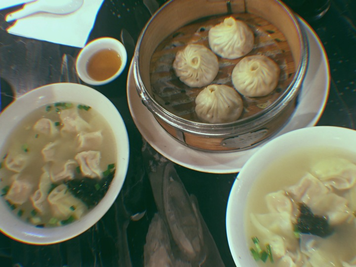 Shanghainese food xiaolongbao and wonton soup