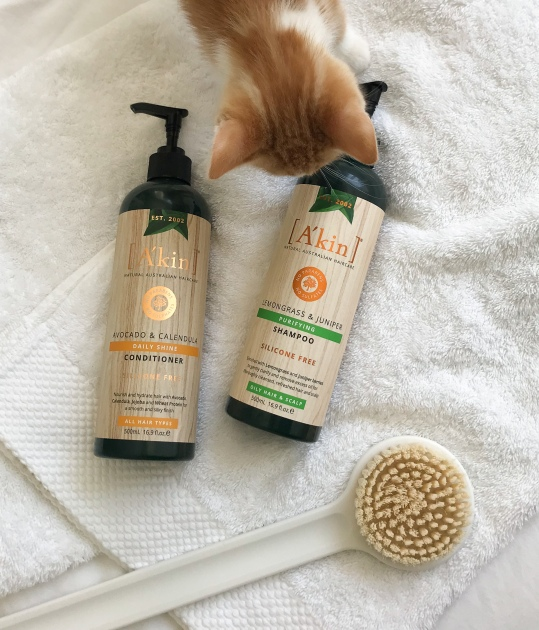 a'kin natural shampoo avocado calendula daily shine conditioner lemongrass juniper purifying shampoo