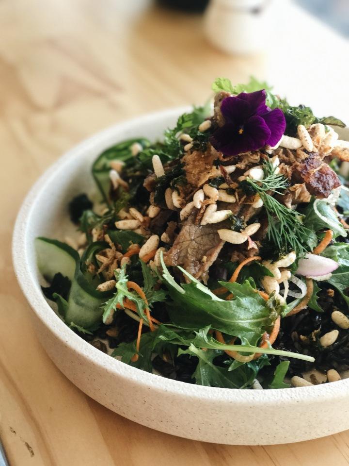 yakiniku beef grains summer dish japanese brunch hibiki melbourne delicious food review